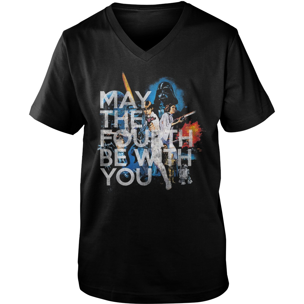 Star wars may the fourth be with you guy v-neck