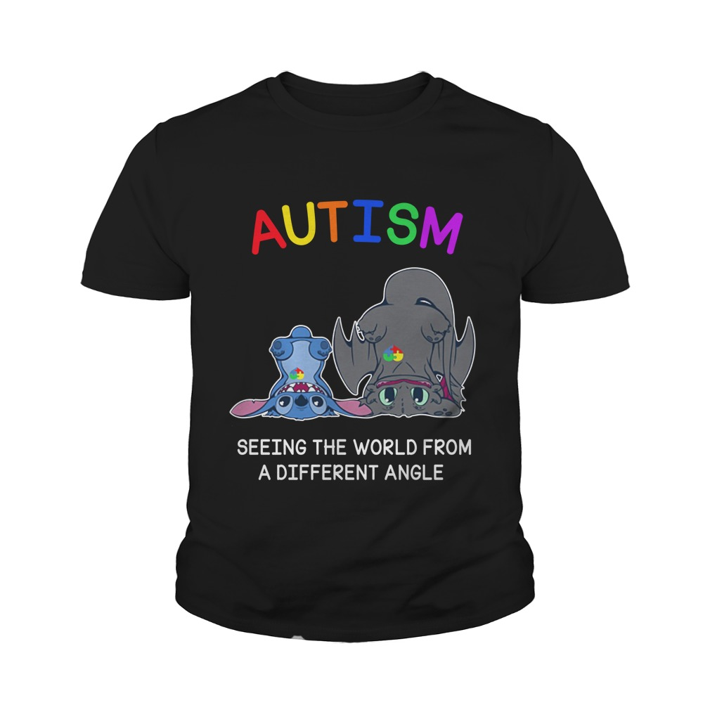 Stitch and Dumbo autism seeing the world from a different angle youth tee