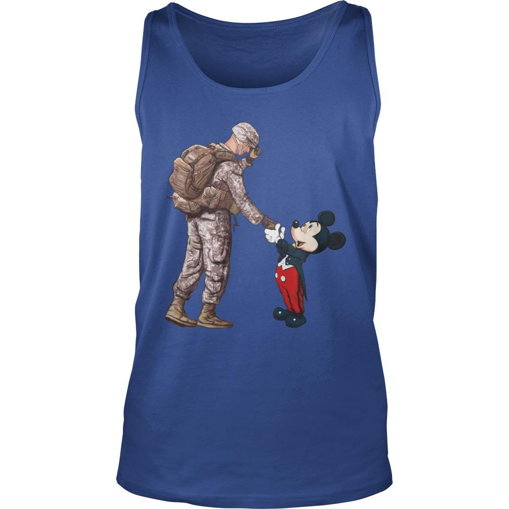 Thankful veteran Disney mickey mouse tank top