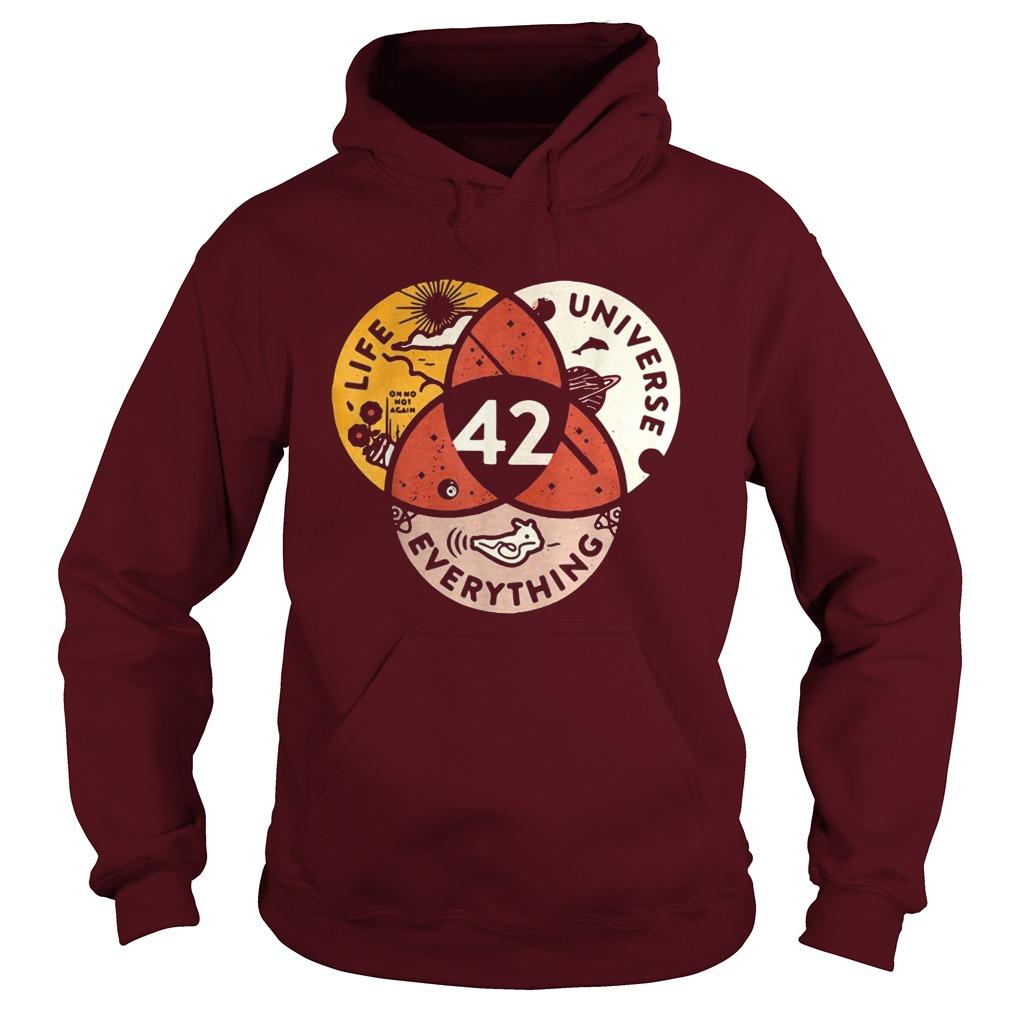 life universe 42 everything hoodie