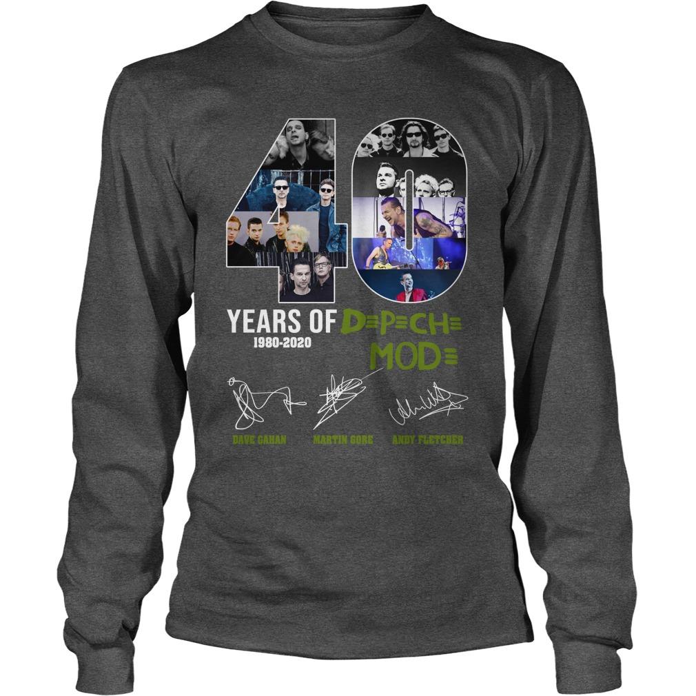 40 years of D p ch mod longsleeve tee