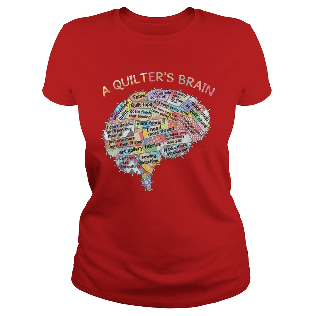 A quilters brain lady shirt