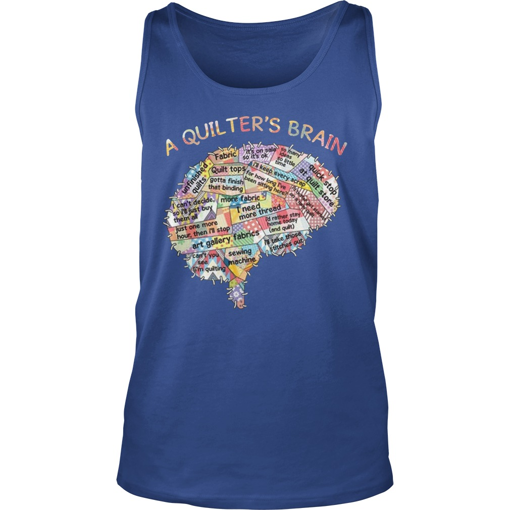A quilters brain tank top