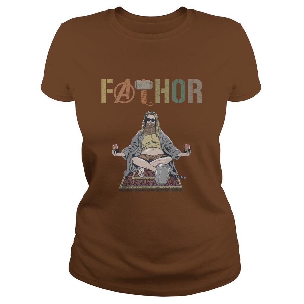 Avenger father yoga lady shirt