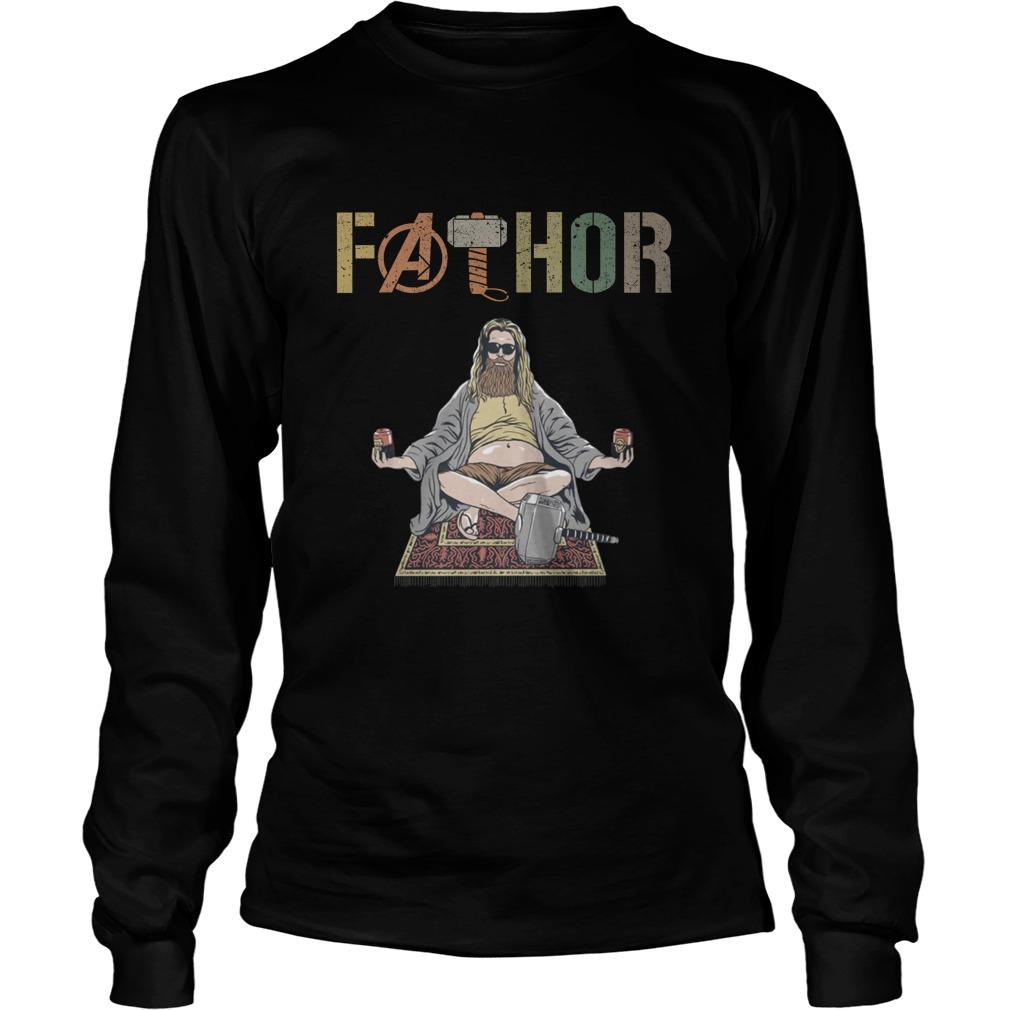 Avenger father yoga longsleeve tee