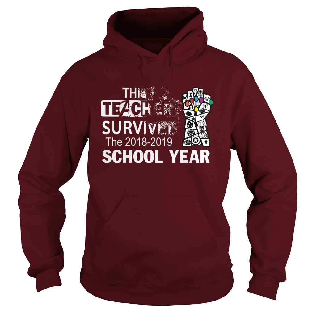 Avengers This teacher survived the 2018-2019 school year hoodie