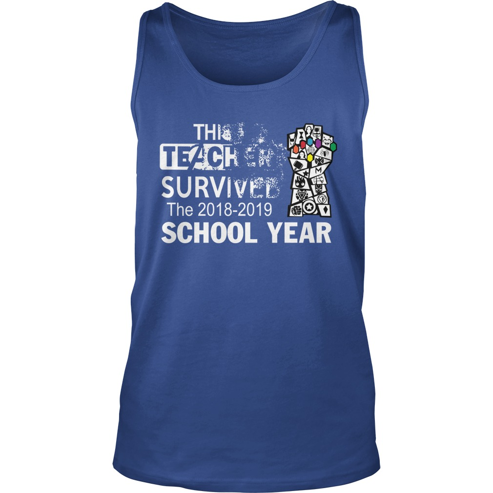 Avengers This teacher survived the 2018-2019 school year tank top