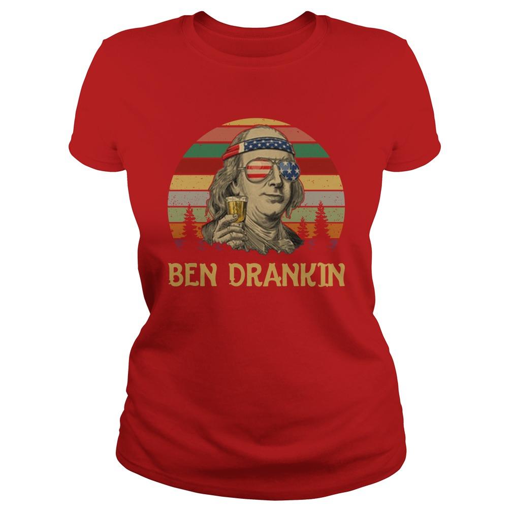 Ben drankin vintage lady shirt