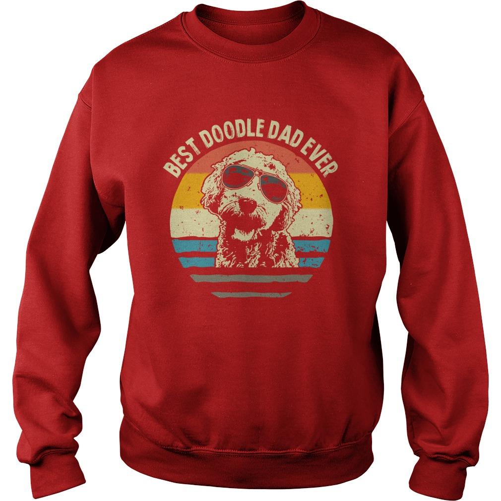 Best doodle dad ever vintage sweatshirt