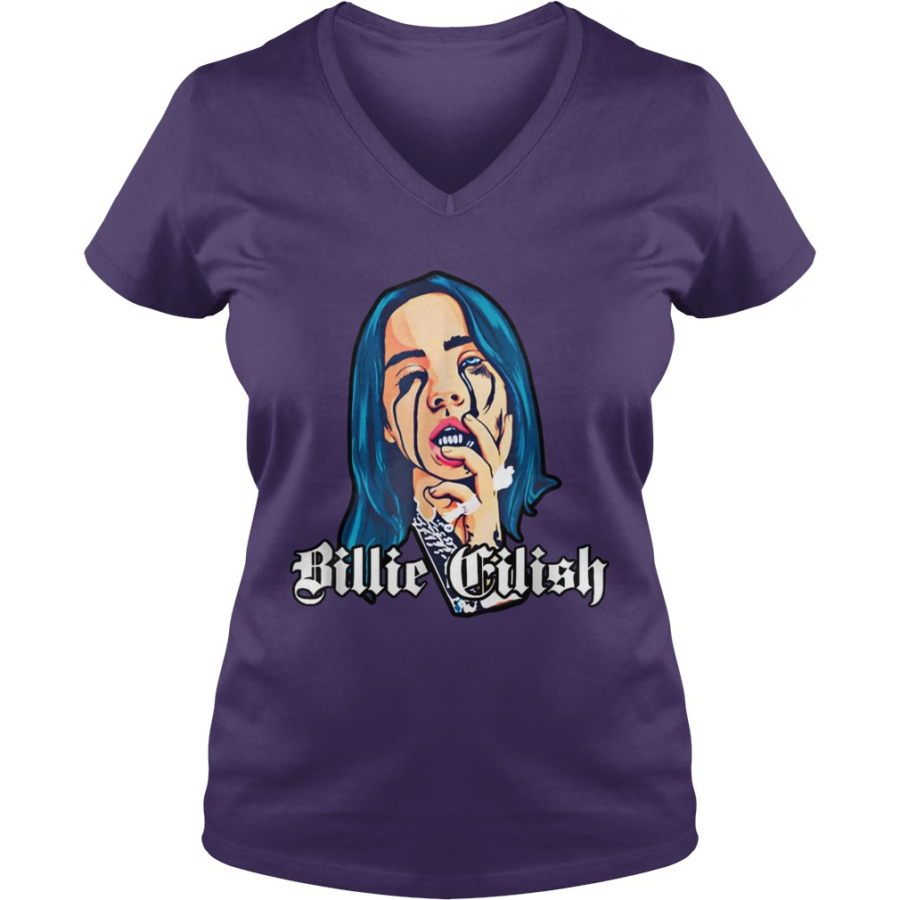 Billie Eilish when the party's over lady v-neck