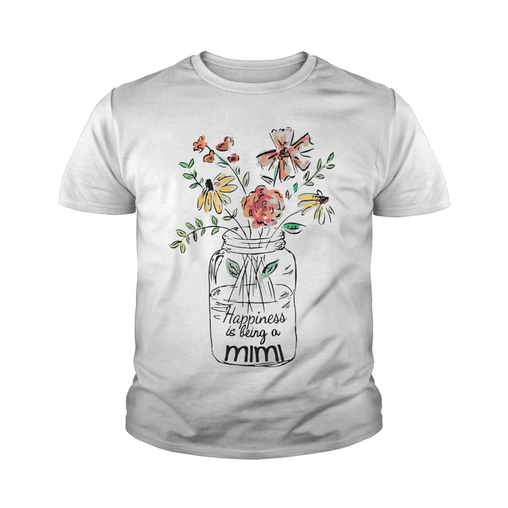 Flower happiness is being a mimi youth tee