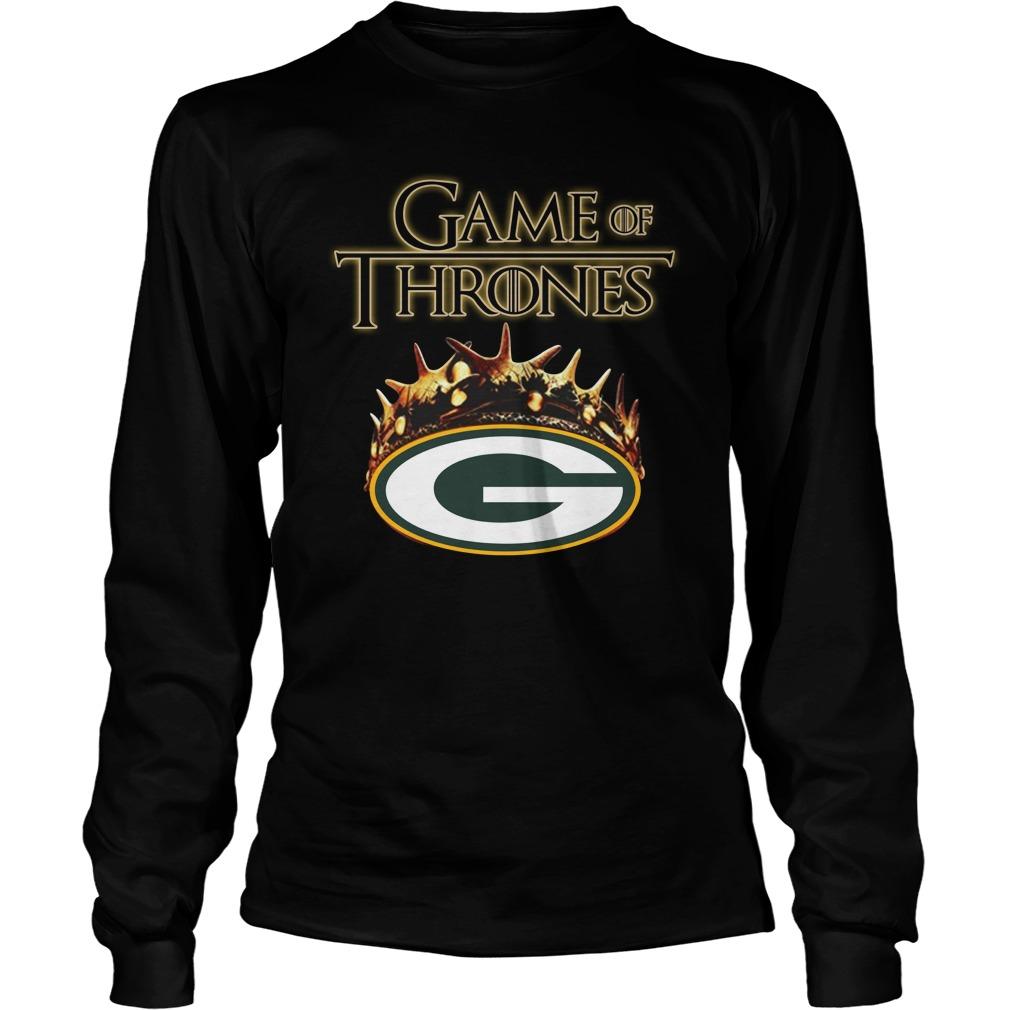 Game of Thrones crowns Green Bay Packers longsleeve tee