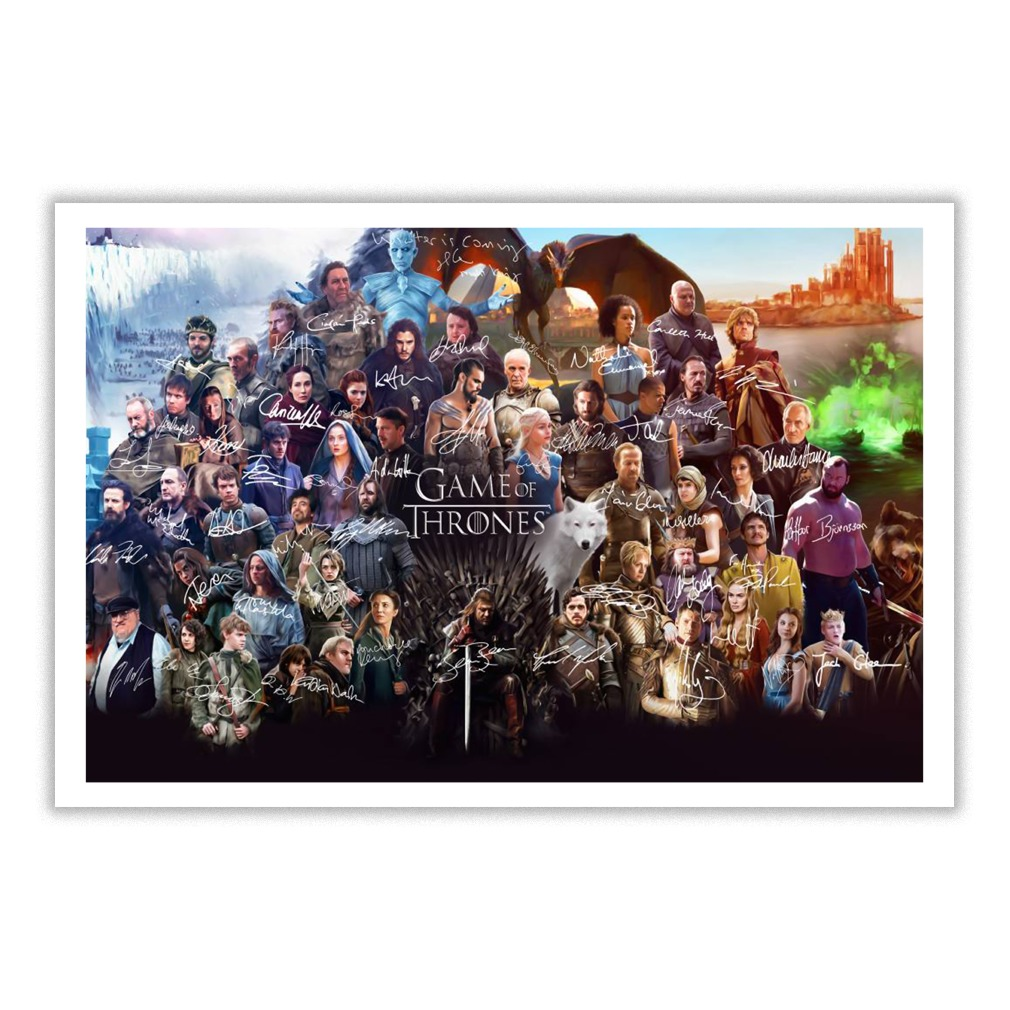 Game of throne signature poster