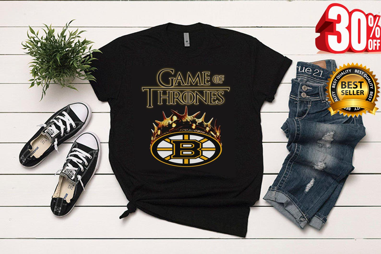 official photos febce 0f14c Game of thrones crown Boston Bruins shirt, hoodie, tank top