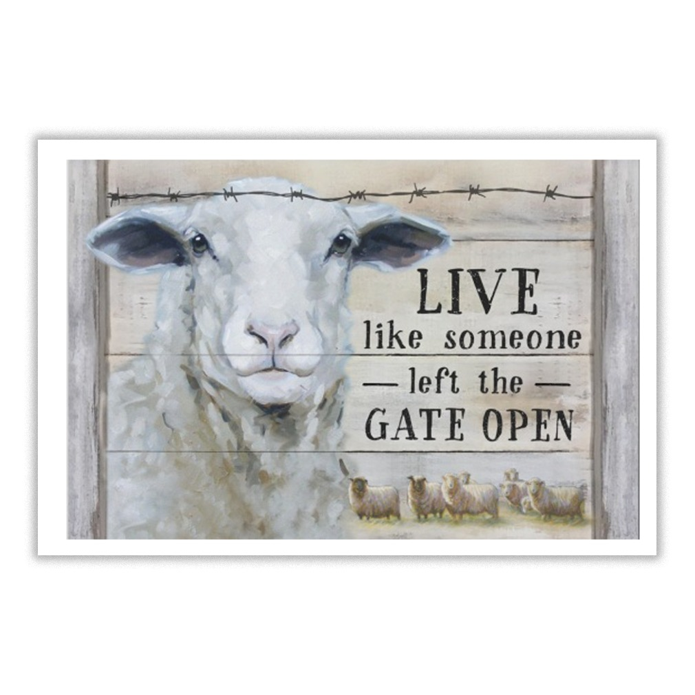 Lovely Goat live like someone left the gate open poster