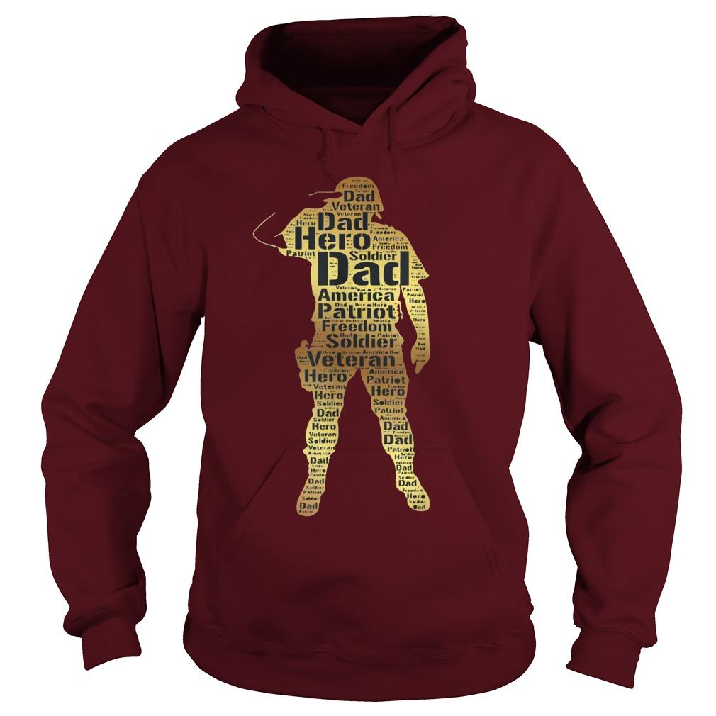 Handsome hero veteran dad hoodie