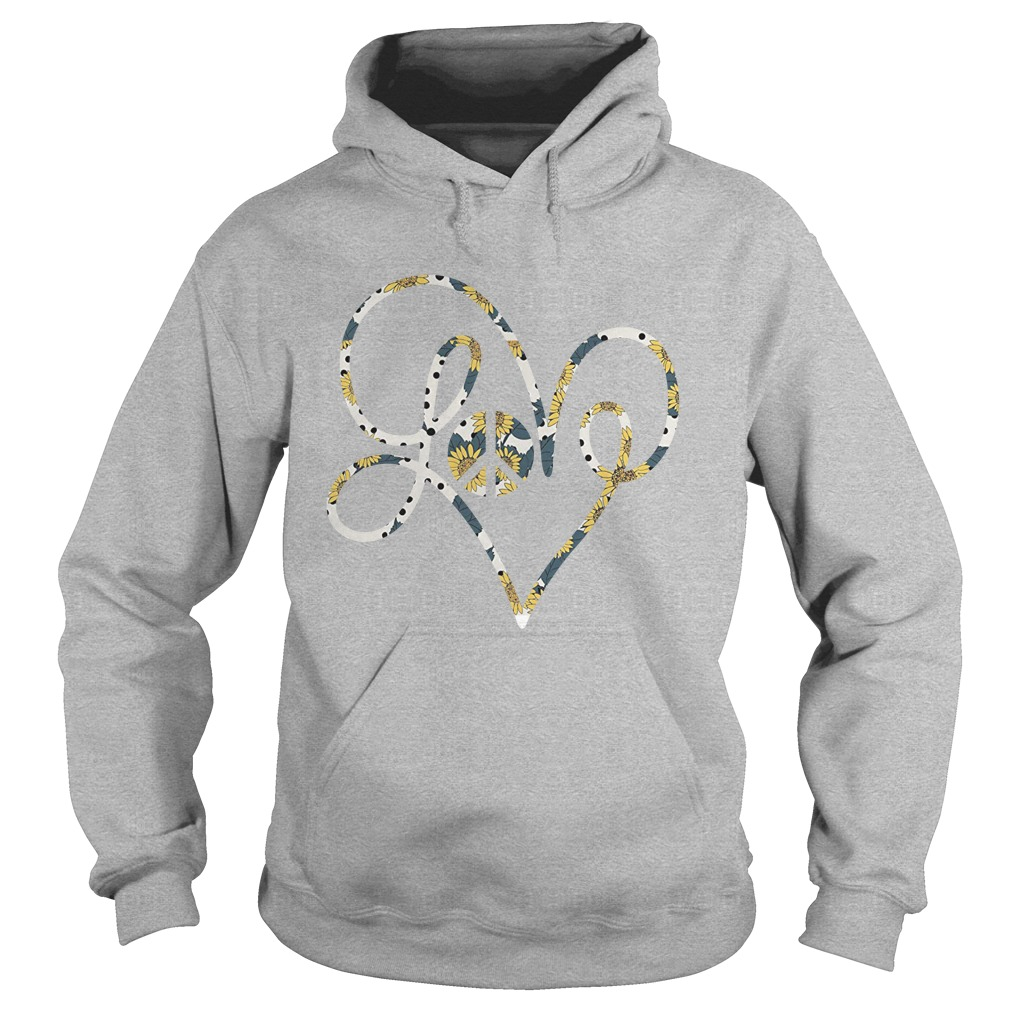 Hippie love sunflower hoodie