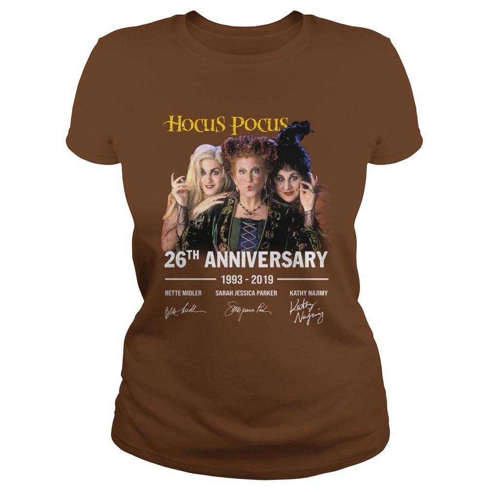 Hocus Pocus 26th Anniversary 1993 2019 lady shirt