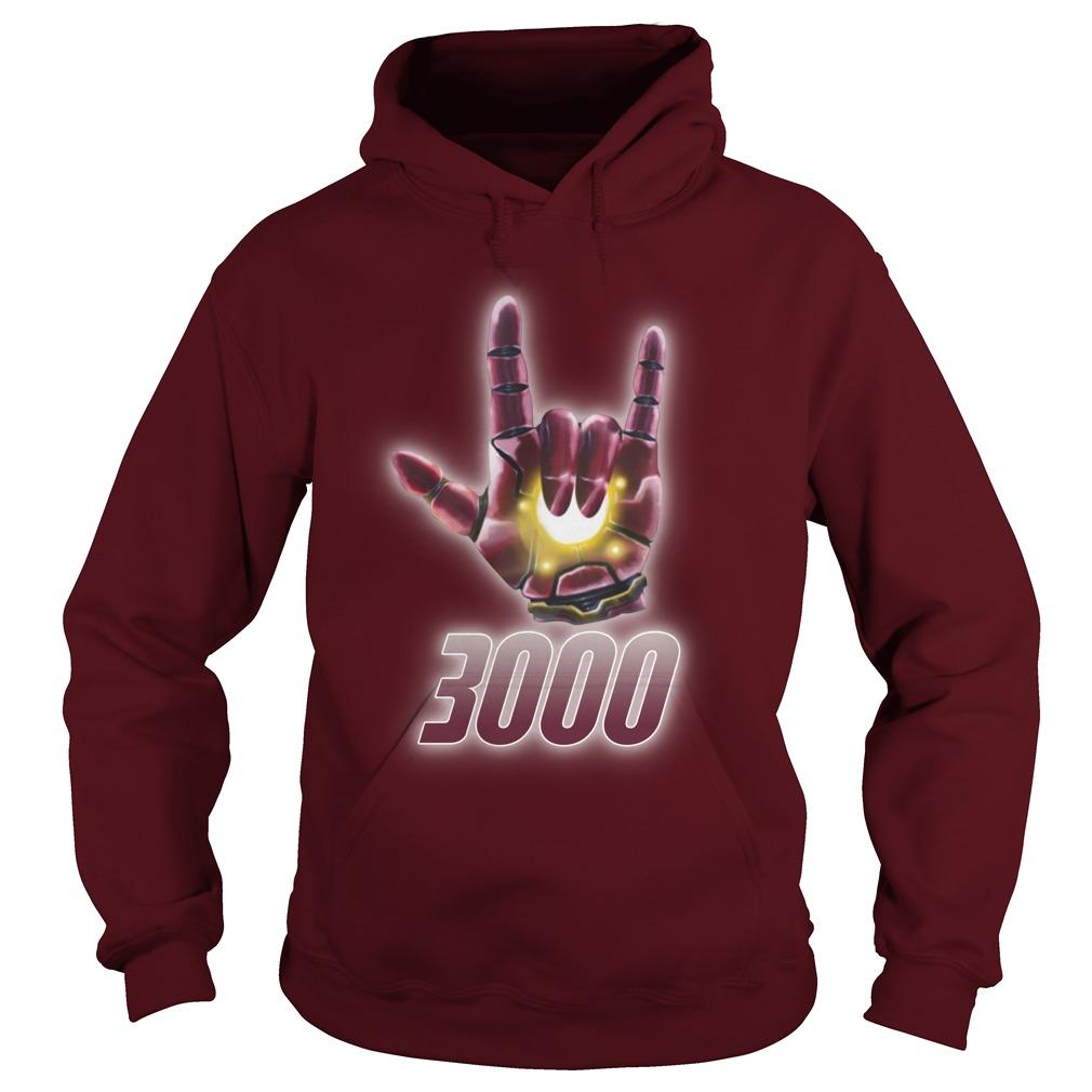 Iron man gethigh 3000 hoodie