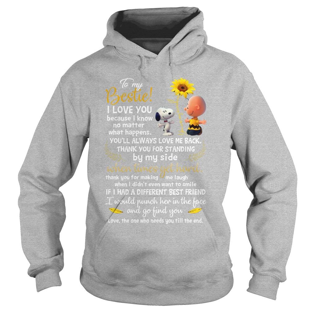 Snoopy and charlie brown to be my bestie hoodie