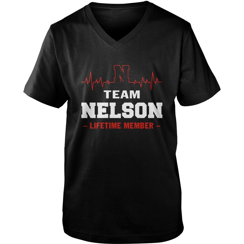 Team Nelson lifetime member guy v-neck