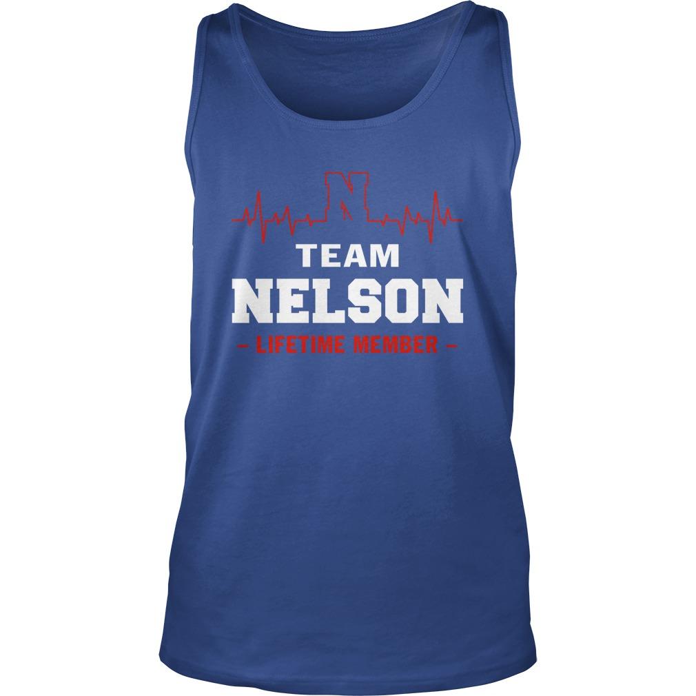 Team Nelson lifetime member tank top
