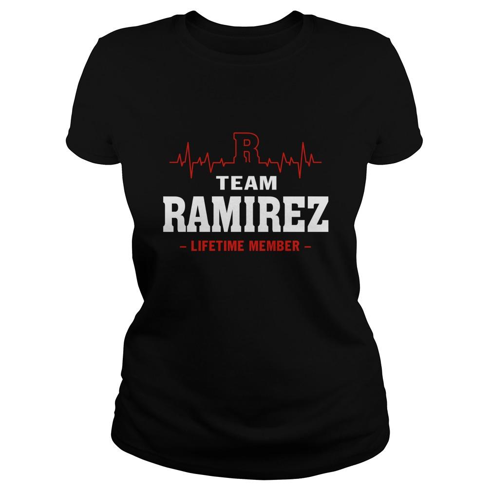 Team Ramirez lifetime member lady shirt