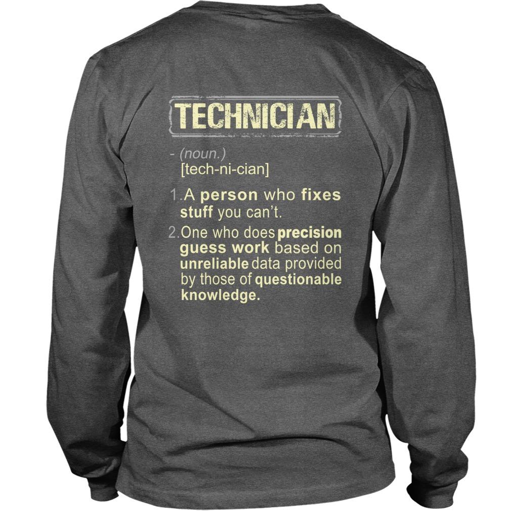 Technician definition longsleeve tee