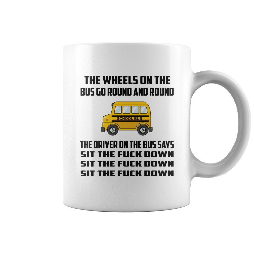 The wheels on the bus go round and round mug