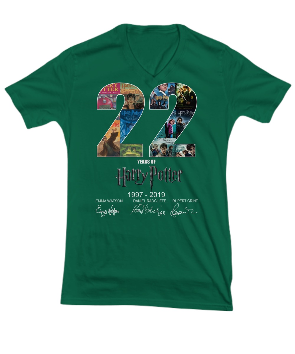 22 year of Harry Potter 1997 2019 signature v-neck