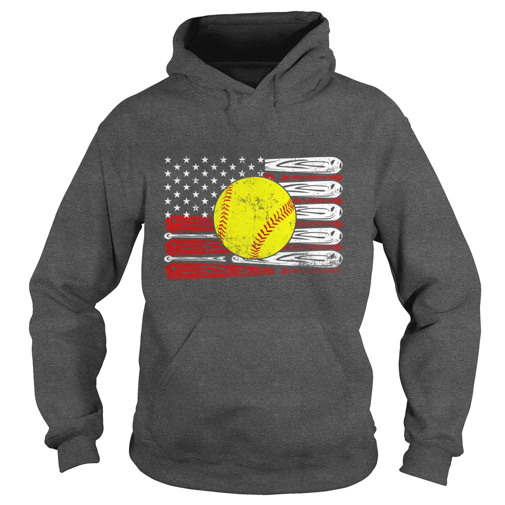 Baseball american flag hoodie