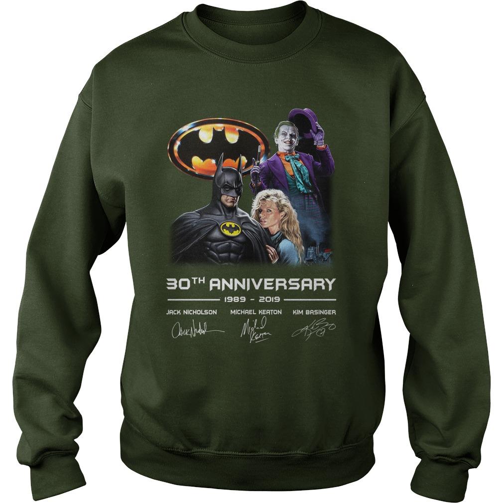 Batman 30th Anniversary 1989 2019 Signature sweatshirt