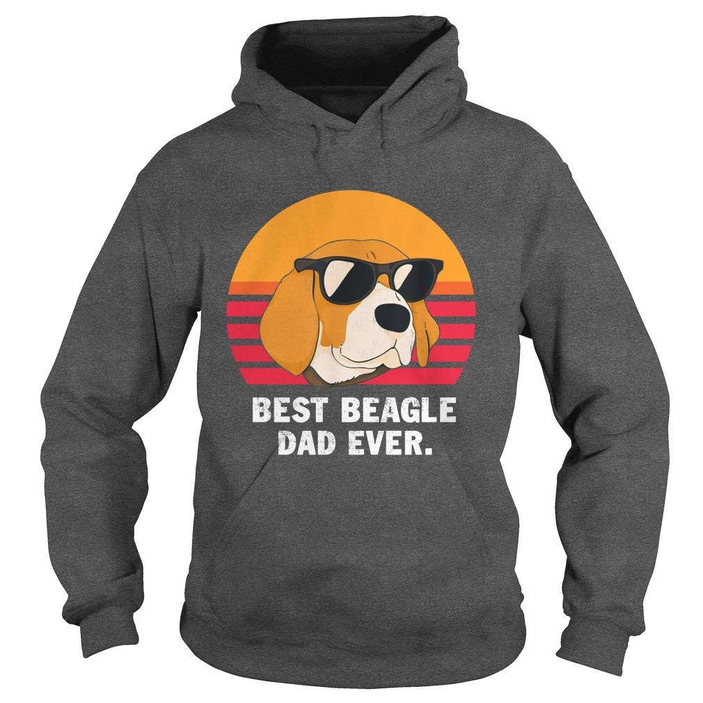 Best beagle dad ever vintage hoodie