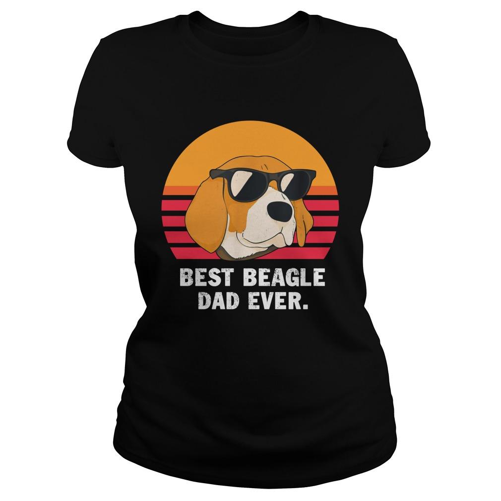 Best beagle dad ever vintage lady shirt