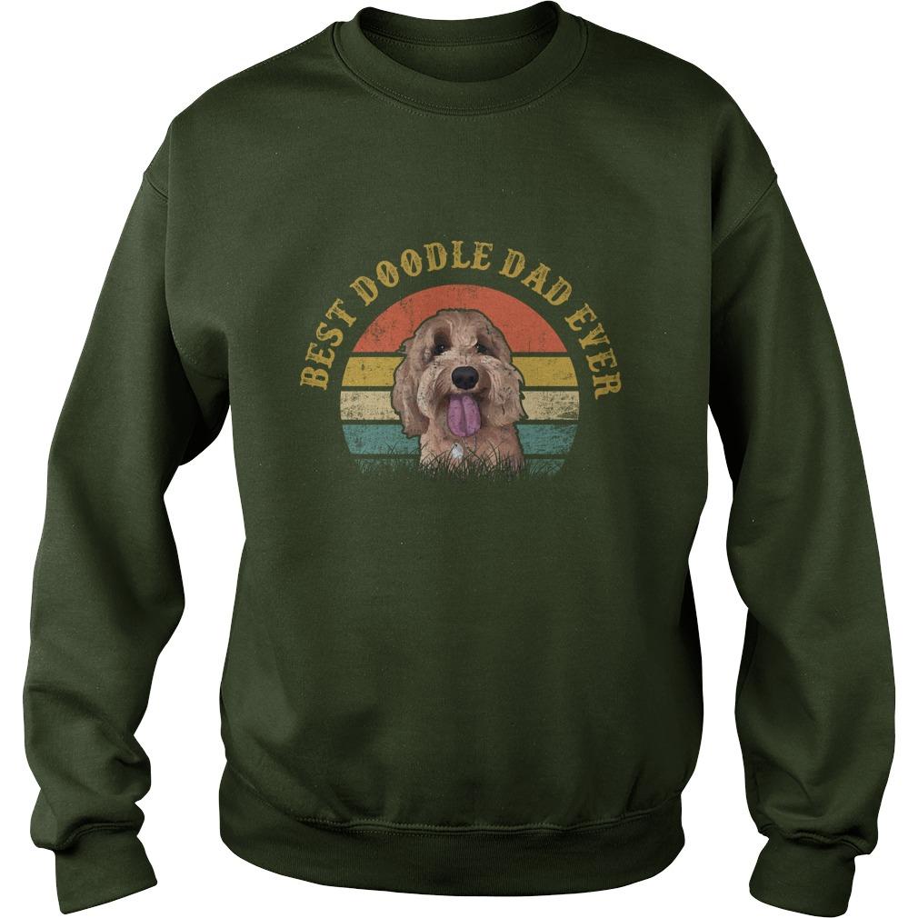 Best doodle dad ever vintage golden doodle sweatshirt