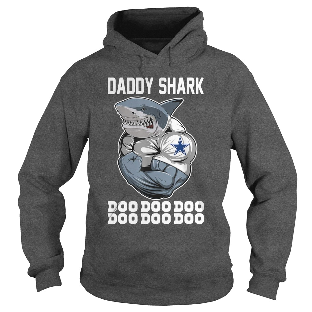 Daddy Shark Body Building Dallas Cowboy Doo Doo hoodie