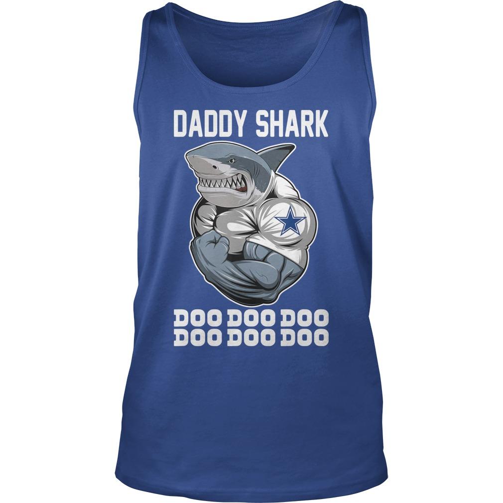 Daddy Shark Body Building Dallas Cowboy Doo Doo tank top