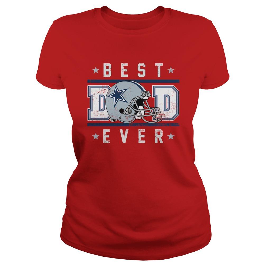 Dallas cowboy best dad ever lady shirt