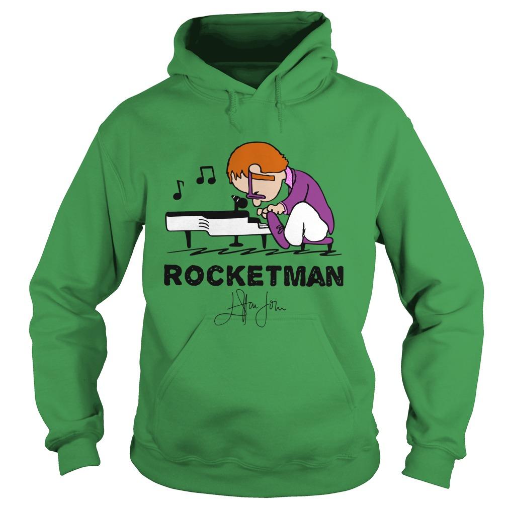 Elton John Rocket Man play piano hoodie