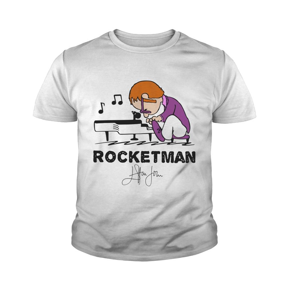 Elton John Rocket Man play piano youth tee
