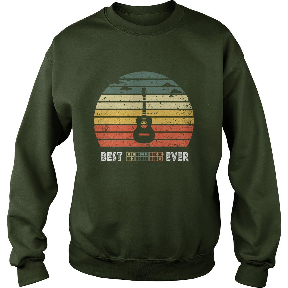 Guitar best dad ever vintage sweatshirt