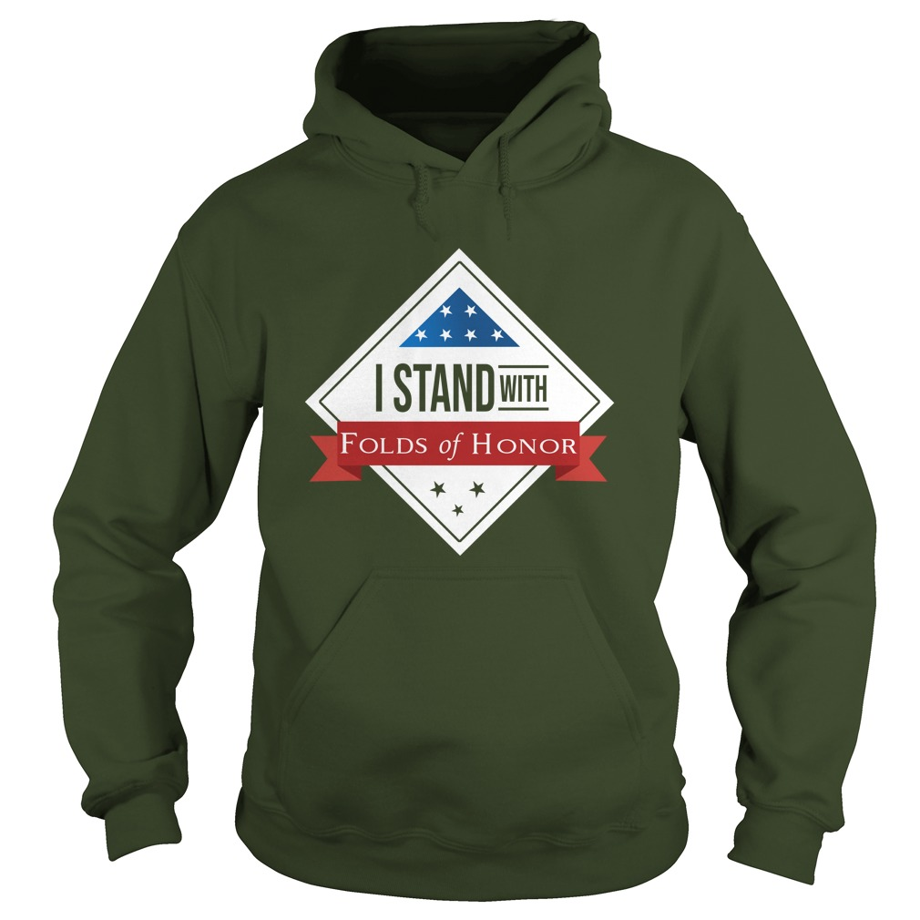 I stand with folds of honor hoodie