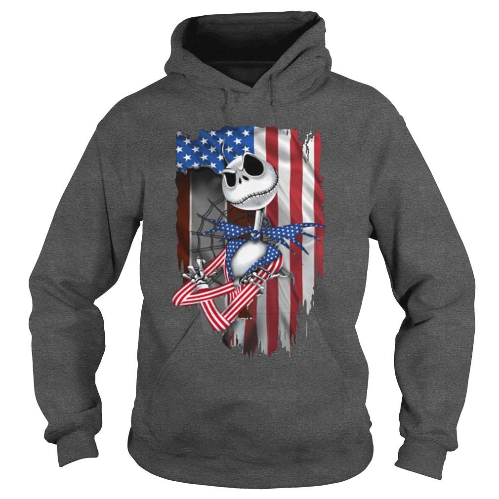 Jack Skellington American flag independence day hoodie