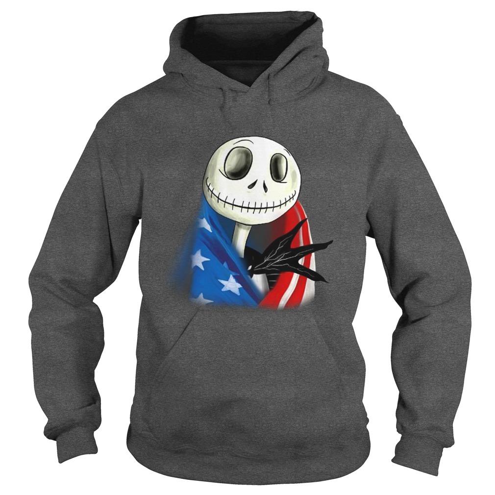 Jack Skellington with american flag hoodie