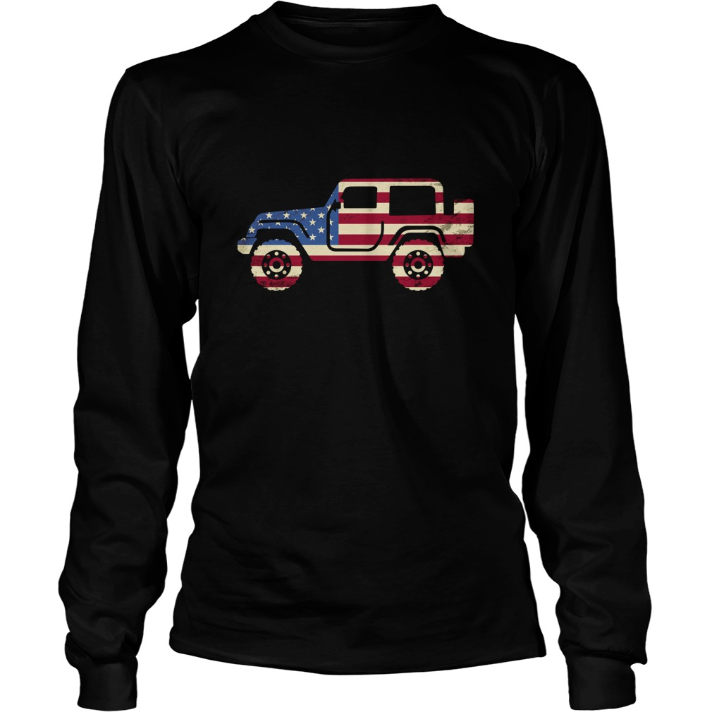 Jeep american flag longsleeve tee
