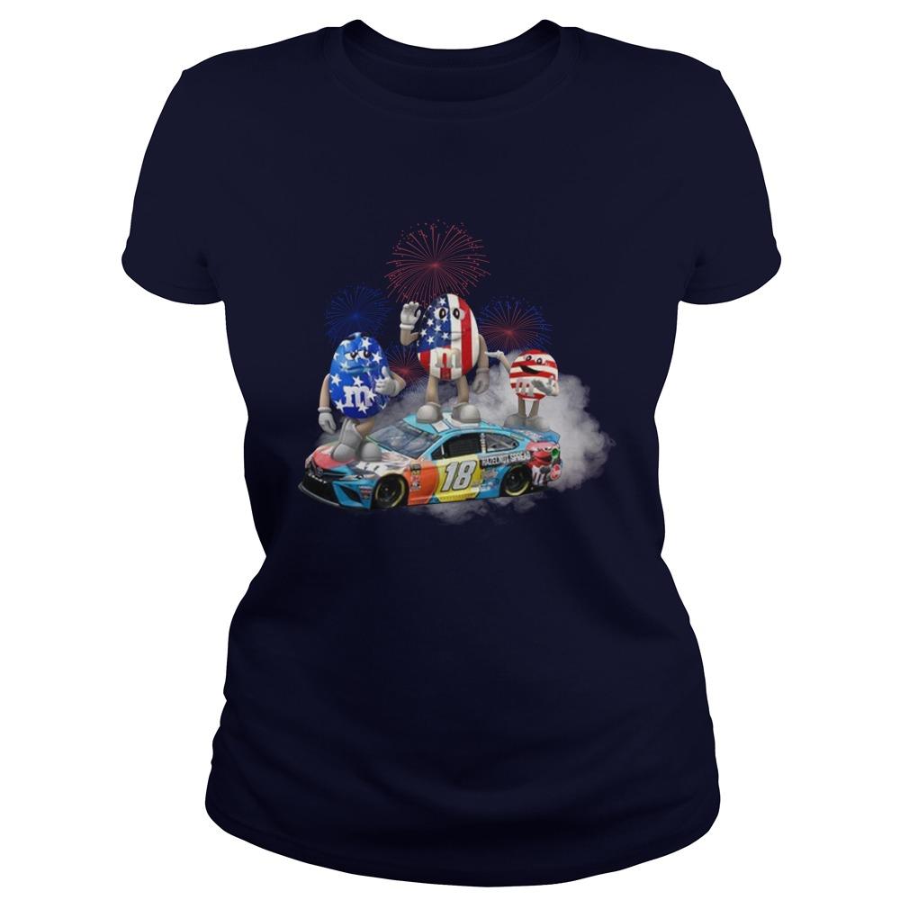 Kyle Busch M M flag america 18 hazelnut spread lady shirt