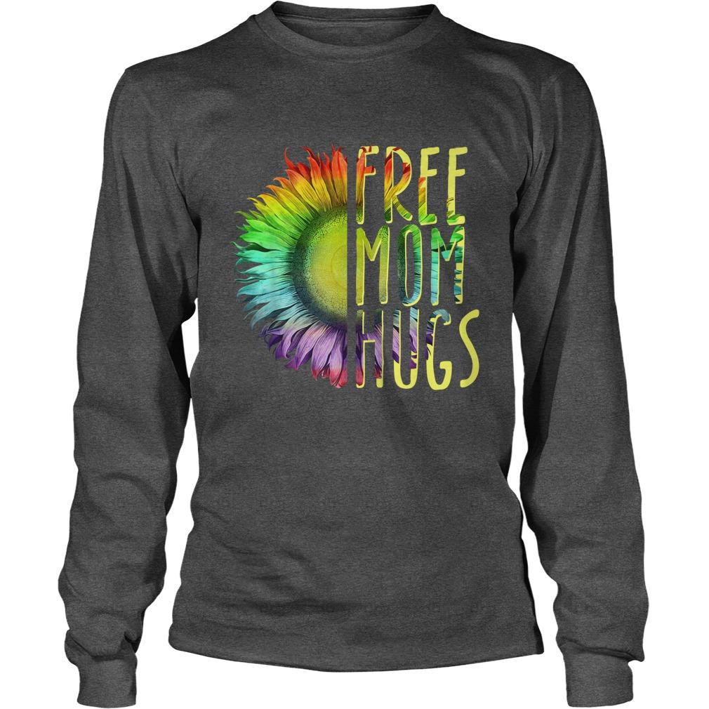 LGBT Sunflower free mom hugs longsleeve tee