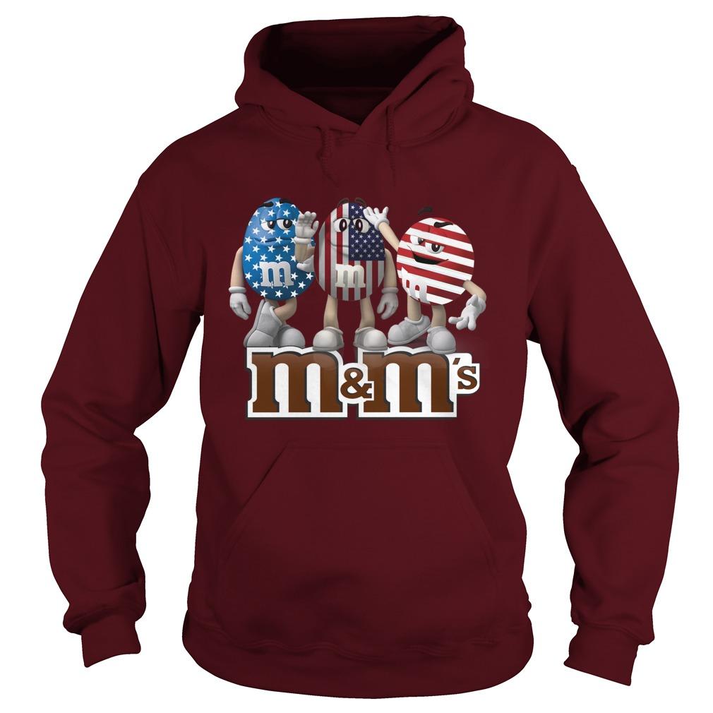 M&M's american flag hoodie