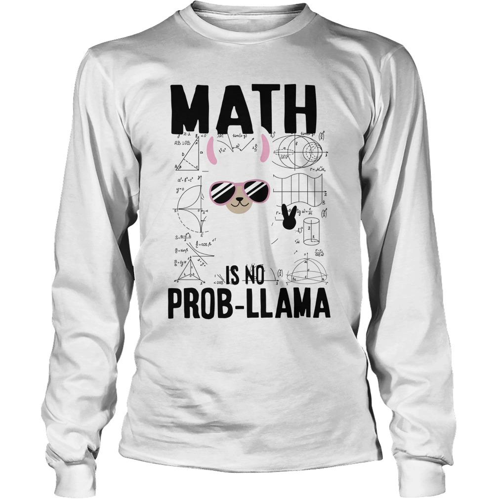 Math is no prob-llama longsleeve tee