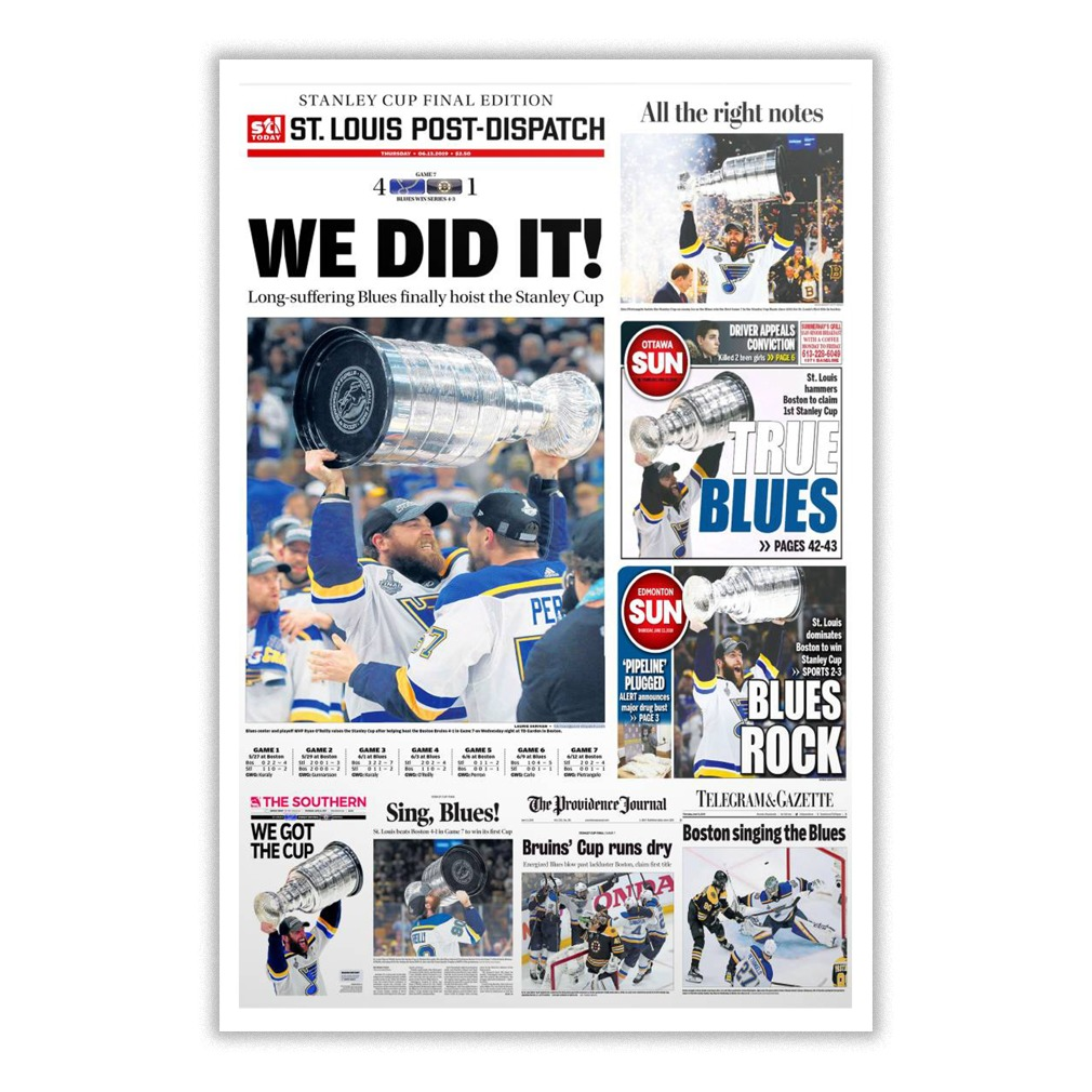 Stanley Cup Final Edition St Louis Post-Dispatch poster